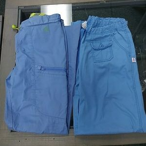 Set of S scrub pants blue